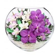 Цветы в стекле Сиреневый туман