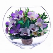 Цветы в стекле Воздушный поцелуй