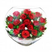 Цветы в стекле Алые паруса