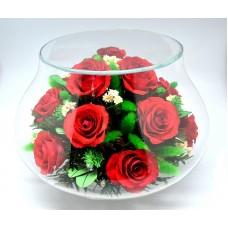 Цветы в стекле Естественная красота