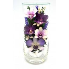 Цветы в стекле Дикая орхидея