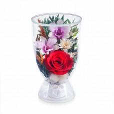 Цветы в стекле Поздравляю