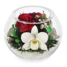 Цветы в стекле Желаю счастья 2