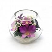 Цветы в стекле Неженка
