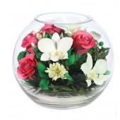 Цветы в стекле Розовый фламинго
