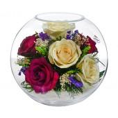 """Цветы в стекле """"Вдохновение любви"""""""