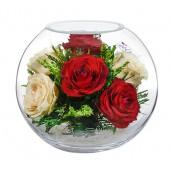 """Цветы в стекле """"Трепетное чувство"""""""