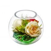 """Цветы в стекле """"Нежность сердец"""""""
