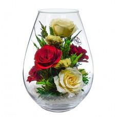 """Цветы в стекле """"Женственность"""""""