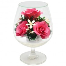 Цветы в стекле На счастье-2