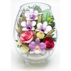 Цветы в стекле Счастливы вместе
