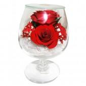Цветы в стекле На счастье-3
