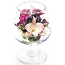 Цветы в стекле На счастье