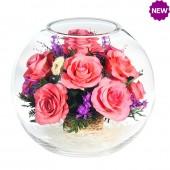 Цветы в стекле Вдохновение-1