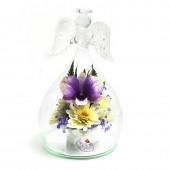 Цветы в стекле Ангел-3