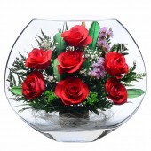 Цветы в стекле От всей души-1