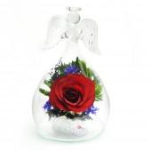 Цветы в стекле Ангел-1