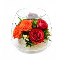 Цветы в стекле Пламенные чувства
