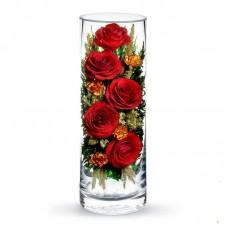 Цветы в стекле Вечная любовь