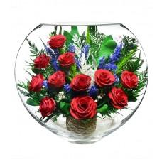Цветы в стекле Алые паруса-2
