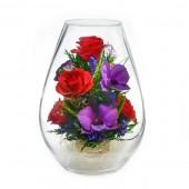 Цветы в стекле Искренние чувства